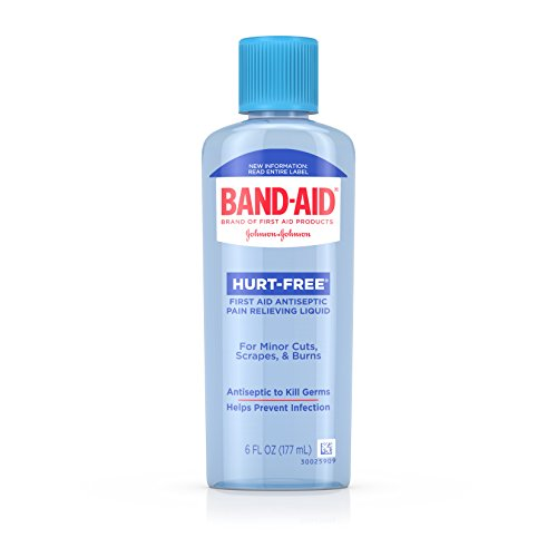 Band Aid Brand First Aid Hurt-Free Antiseptic Wash Treatment, Cleans Wounds and Kills Germs, 6 fl. Oz (Pack of 6) ()
