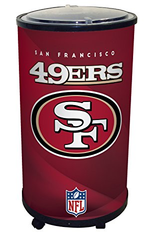 NFL San Francisco 49Ers Ice Barrel Cooler, Black, 19'' by GLAROS
