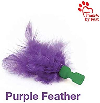 Furever 3 Replacement Cat Toy Attachments to use with The Pop and Play; Includes One Mouse, One Fish and One Feather. Ideal for Your cat, Interactive Way. Best Cat Toys Ever 4