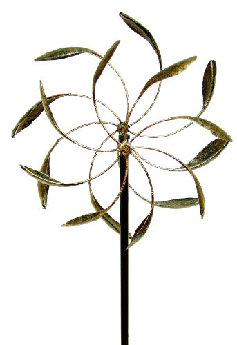 Sculpture Motion - Echo Valley 4370 Counter Motion Leaf WindWheel, 18.5 by 9.75 by 56.5-Inch