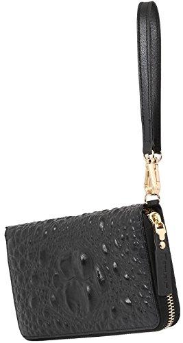 A Smartphone Tracolla Clutch Elegante Custodia Smart Croc Portafoglio Stilgut Style In Blu Per Pelle Borsa Wallet E fFUqnz7