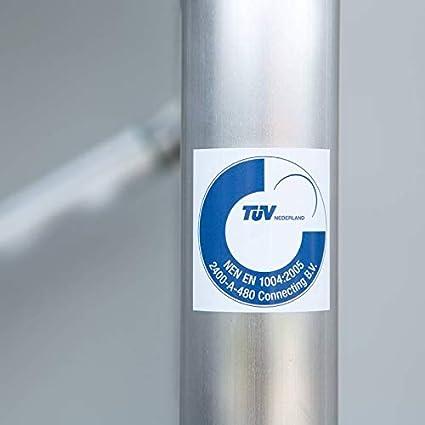 50 x 75 cm, 4 ruedas, certificado T/ÜV Euroscaffold Pergamino de construcci/ón