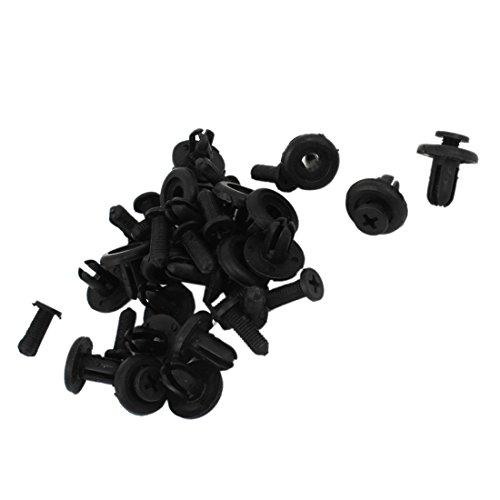 Car Bumper Fasteners - TOOGOO(R) Car Bumper Fender 7mm Hole Black Plastic Rivets Fasteners 20 Pcs by TOOGOO(R) (Image #1)