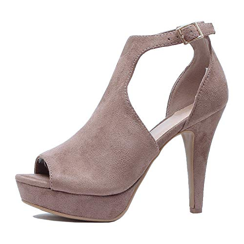 9edad303ce9ab Guilty Shoes Womens Cutout Gladiator Ankle Strap Platform Fashion ...