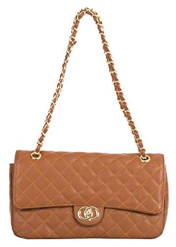Wedding D2 Shoulder Handbag Lock Quilted Big Womens Bag Round Clutch Party Twist Clasp Tan Purse Shop Small AzYnOH