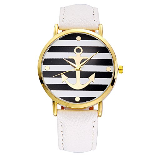 Wensltd(tm) Women Dress Watches Leather Strap Anchor Watches