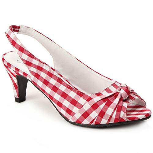 (Knotted Gingham Slingback by EY Boutique)