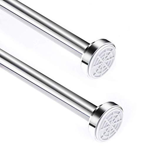 Onigen Stainless Steel Shower Curtain Rod Adjustable Tension Rod for Bathroom Kitchen Home Never Rust - 31.5-55 Inches No Drilling