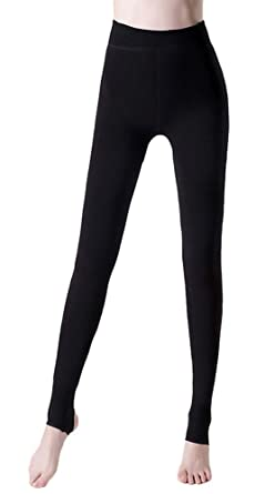 d3a02d125c7 AvaCostume Women s Winter Velet Thick Brushed Legging Pants Stirrup Fleece  Tights