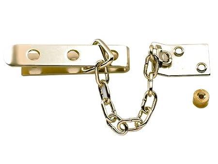 Yale Locks P1040PB High Security Door Chain - Brass Finish YALP1040PB