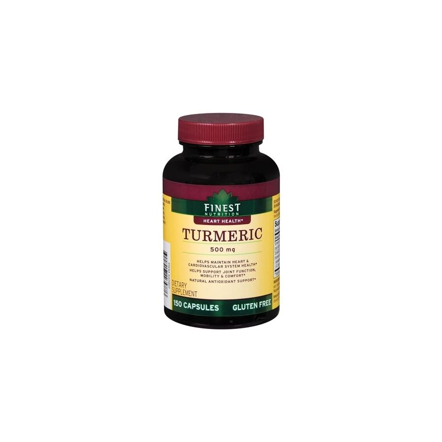 Finest Nutrition Turmeric Heart Health 500 Mg 150 Caplets