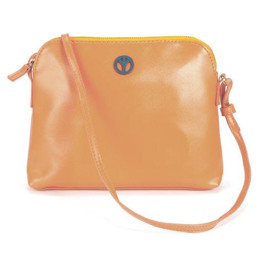 The Pecan Man Orange Brown Crossbody Handbag Tote Woman Satchel Shoulder ()