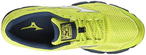 Mizuno Wave Kien - Zapatos Hombre Multicolore (LimePunch/Silver/MajolicaBlue)