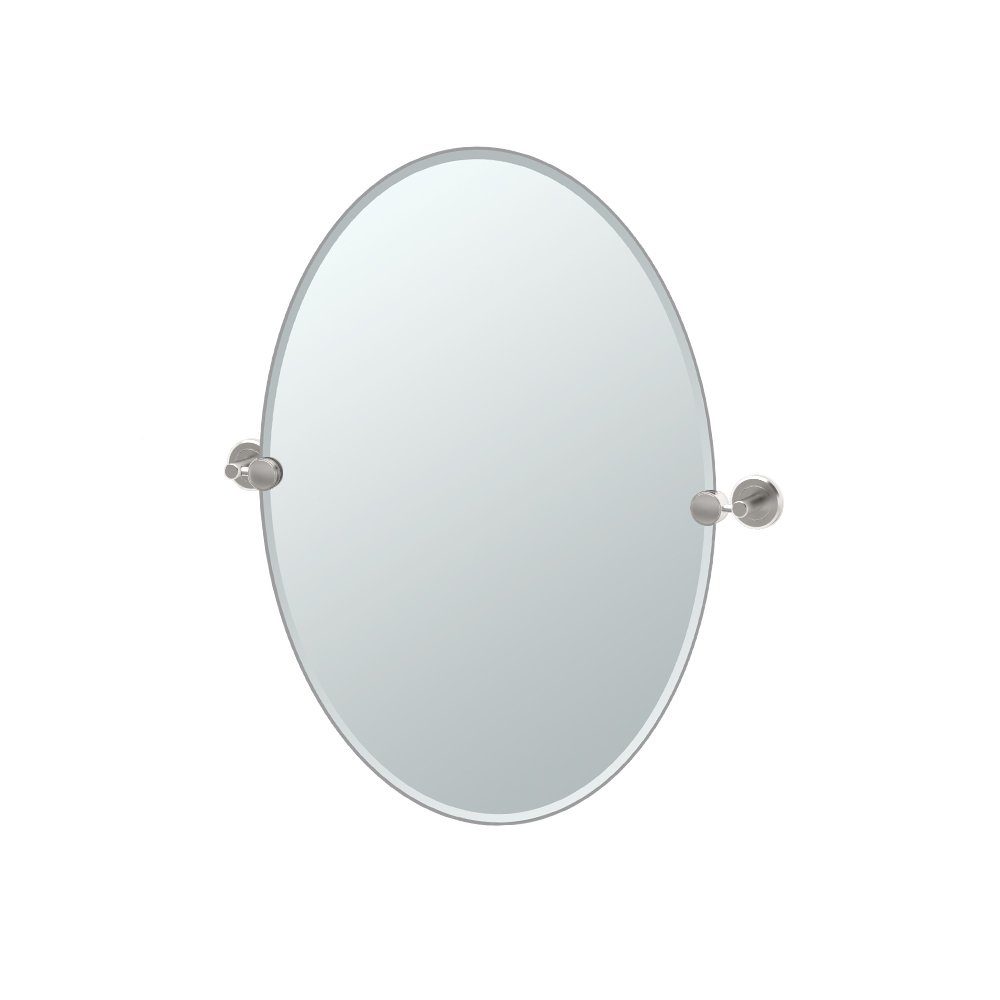 Gatco 4299 Latitude II Oval Mirror, Satin Nickel