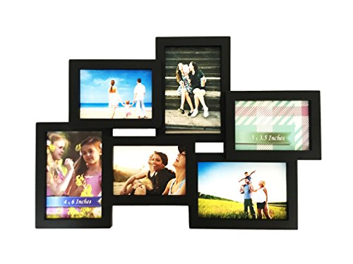 bestbuy frames wall hanging collage 6 opening 3 4 x 6 inch and 3 5 x 35 inch picture frame black
