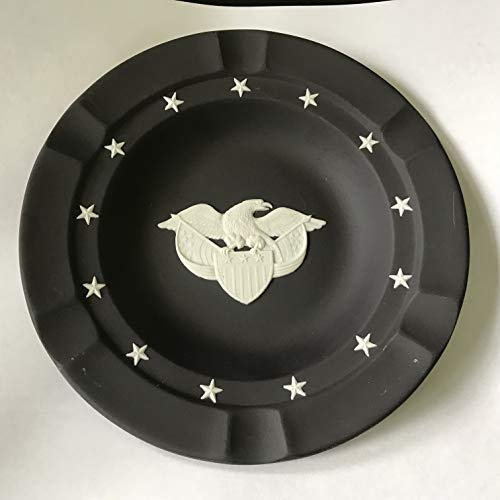 W Oversized Black Jasperware Ashtray with Eagle for sale  Delivered anywhere in USA
