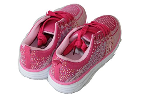 amara-global Women's Low-Top Sneakers Pink-Rosa isU3NO