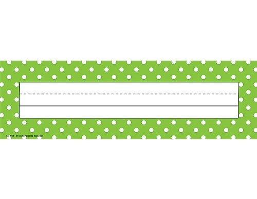 Teacher Created Resources Lime Polka Dots Name Plates (4798)