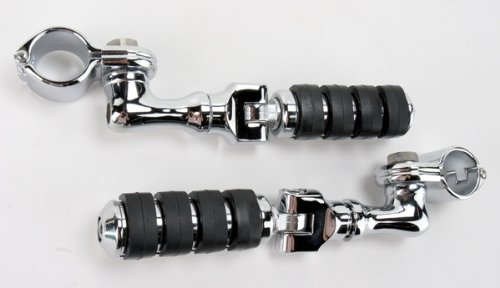 Kuryakyn ISO Small Footpegs With Angle Mounts And Quick Clamps (1-1/4