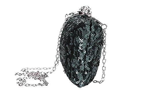 VN1911 avec DE femme cérémonie à gris FEMME main pochette PASSION Sac paillettes PqAFwaZ6