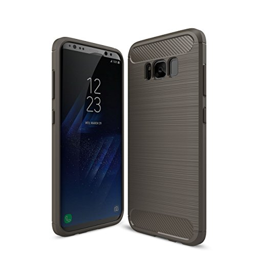 Otium Galaxy S8 Case with Resilient Shock Absorption - Carbon Fiber textures