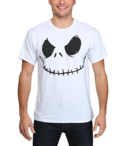 Nightmare Before Christmas Smilin Jack Skellington Costume T-Shirt-X-Large White]()