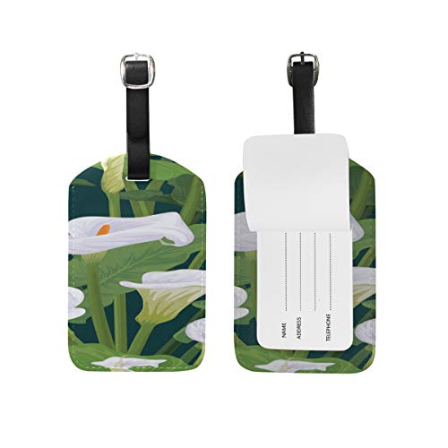 Id Labels Business Card Suitcase Luggage Tag Calla White Floral Romatic (White Calla Blossom)