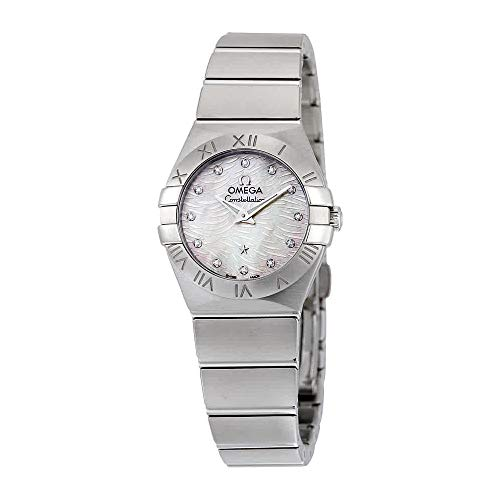 (Omega Women's 'Constellation' Swiss Quartz Stainless Steel Dress Watch, Color:Silver-Toned (Model:)