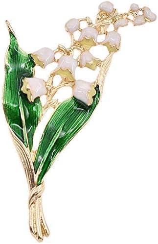 女性のためのブローチジュエリーのノベルティブローチ女性のブローチピンエナメル花の葉のブローチ、ベストギフト ブローチ 高級感 レディース
