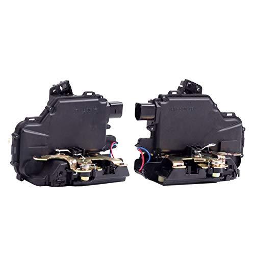 Rear Left & Right Door Lock Actuator Latch Fit For VW Jetta Passat Golf Beetle 3B4839015A 3B4839016A (2 Pack)