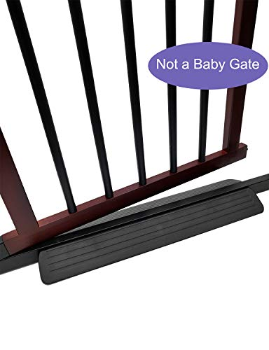 Stroller or Wheelchair Ramp for Baby Gate, Prevent Stubbing Toes, 1 Pcs, Fit Baby Gate/Pet Gate with 0.8 inches (2cm) Wide Bottom Crossbar (Black)