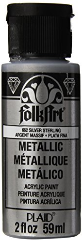(FolkArt Metallic Acrylic Paint in Assorted Colors (2 oz), 662, Silver)