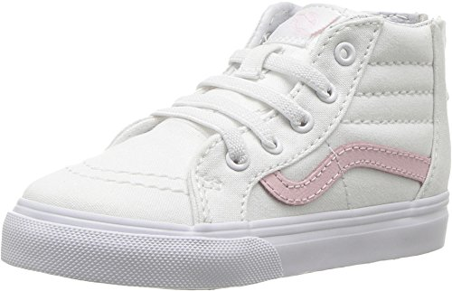 Vans Toddler T SK8 Hi Zip True White chalk Pink Size 6