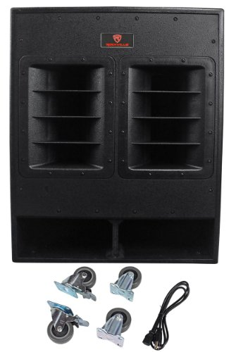 Rockville RBG18FA 18'' 3000w Active Powered Pro Subwoofer Folded Horn PA/DJ Sub by Rockville