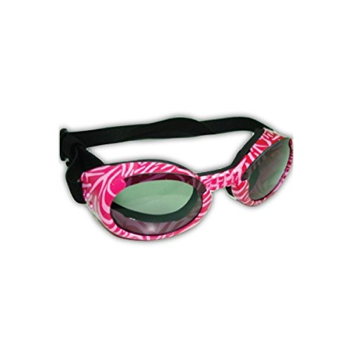 Doggles ILS Sunglass, Large, Pink Zebra Frame/Smoke - Sunglasses Doggle