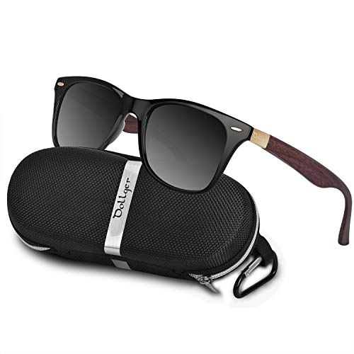 Retro Style BRAND DESIGN Classic Polarized Sunglasses for Men TR90 Frame Square Driving Glasses UV400 Eyewear Unbreakable