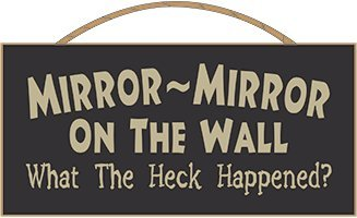 Mirror Mirror On The Wall what The Heck Happened? Sign