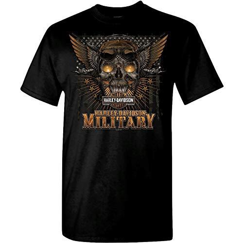 (Harley-Davidson Military Men's Graphic T-Shirt - Overseas Tour | Battle Skull 2X)