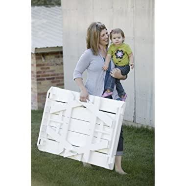 Childrens Foldable Picnic Table in White