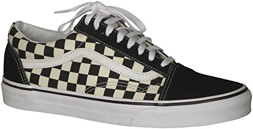 Vans OG Old Skool Primary Check Sneakers (US 9.5 D Men / 11 B Women, Black/White) (Vans Check)