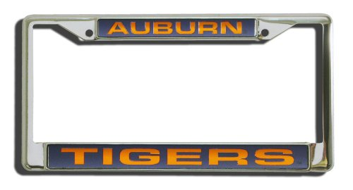 NCAA Auburn Tigers Laser Cut Chrome Plate Frame (Auburn Tigers Chrome License Plate)