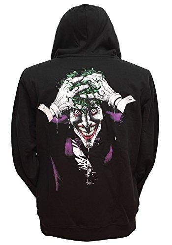 DC Comics Batman Joker Insanity Men's Black Zip Up Hoodie ()