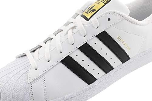adidas Originals mens Super Star Sneaker, White/Black/White, 8.5 US