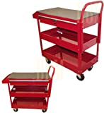 RED Mobile 36'' Steel Tool Cart Roller Rolling Garage Shop Workbench Tool Holder