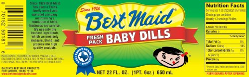 Best Maid Baby Dills 22 Oz Jar (Pack of 2)