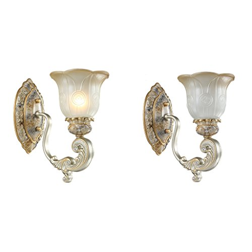 Retro Luxury Bedroom Bedside Light Creative Living Room Decoration Lights Aisle Lights Bathroom Mirrors Front Lamps Fashion Home Decorations ( Size : Single ) by Crystal (Image #1)