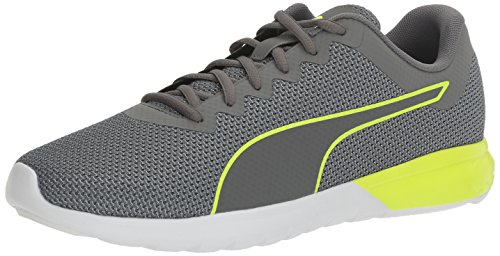 PUMA Men's Vigor Cross-Trainer Shoe, Quiet Shade/Safety Yellow, 7.5 M US
