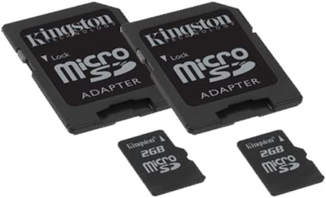Samsung NX3000 Digital Camera Memory Card 2 x 2GB microSDHC Memory Card with SD Adapter 2 Pack
