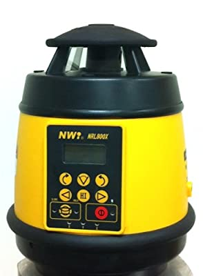 """NWI NRL800X 1/16"""" Accuracy Dial-In Grade Laser Level with Rechargeable Batteries and Detector"""
