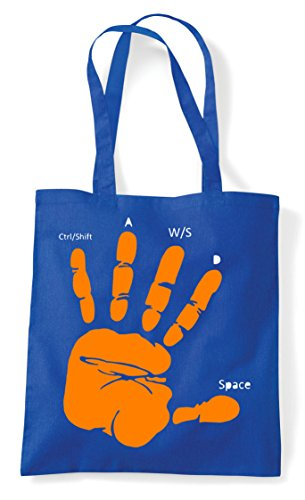 Statement Tote Guide Gamer Hand Shopper Layout Pc Bag Royal Gaming Blue Z4PYwq